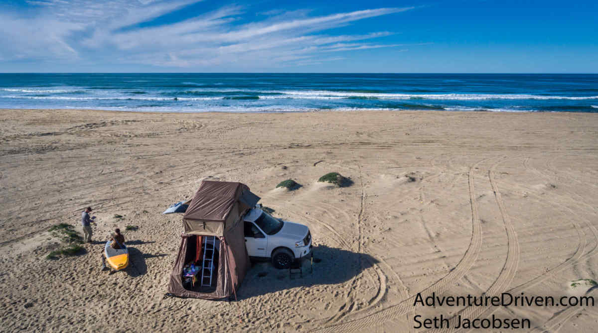 roof top tent on pismo beach