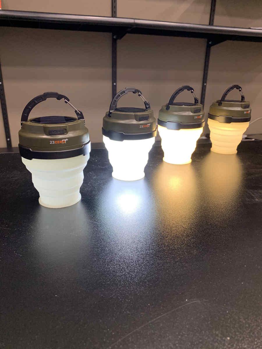 led solar tent light