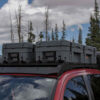 overland storage boxes on truck
