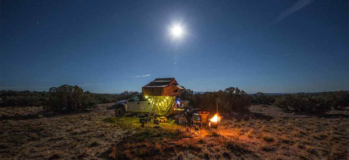 Overlanding by Moonlight in Roof Top Tent