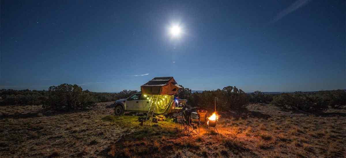 Overlanding by Moonlight in Roof Top Tent