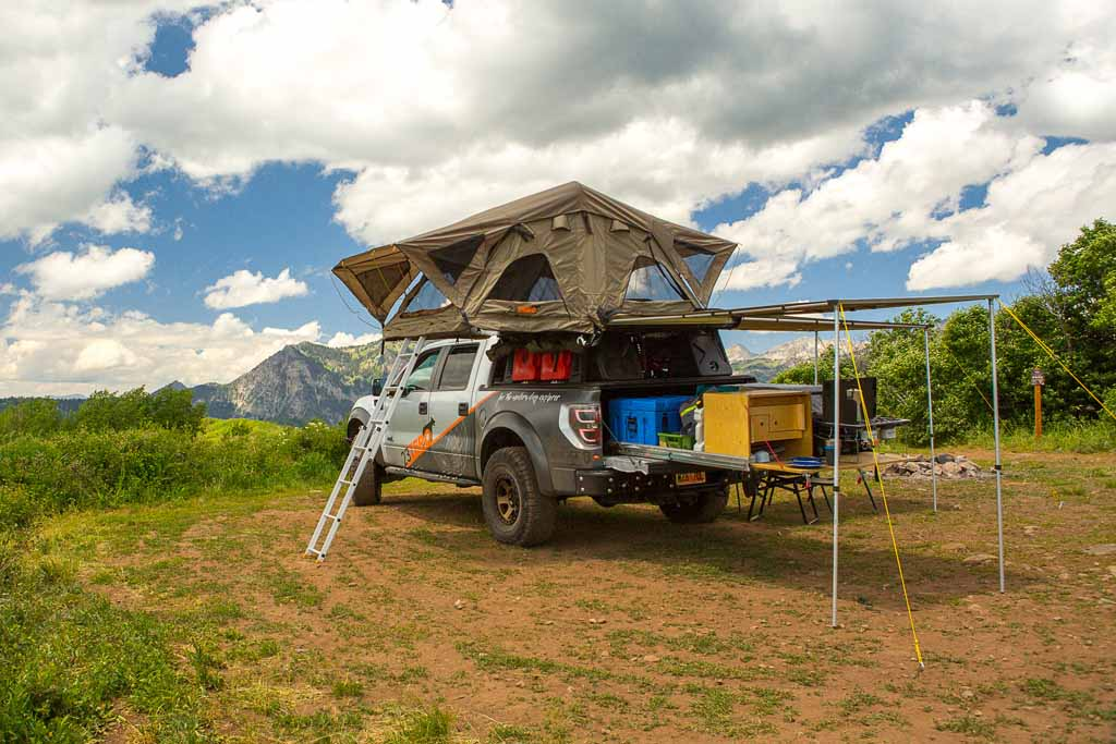 roof top tent on truck