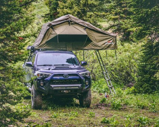 roof top tent with ladder