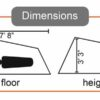 stash tent dimensions